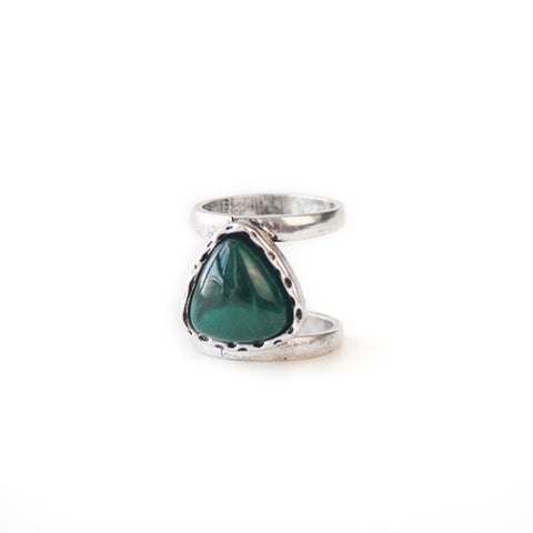 Emerald Green Layered Ring