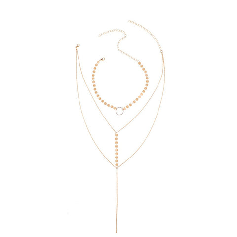 Valery Multi Layered Drip Necklace