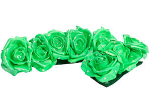 Green flower headpiece