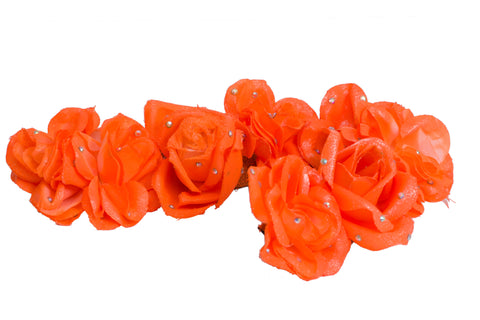 Orange flower headpiece