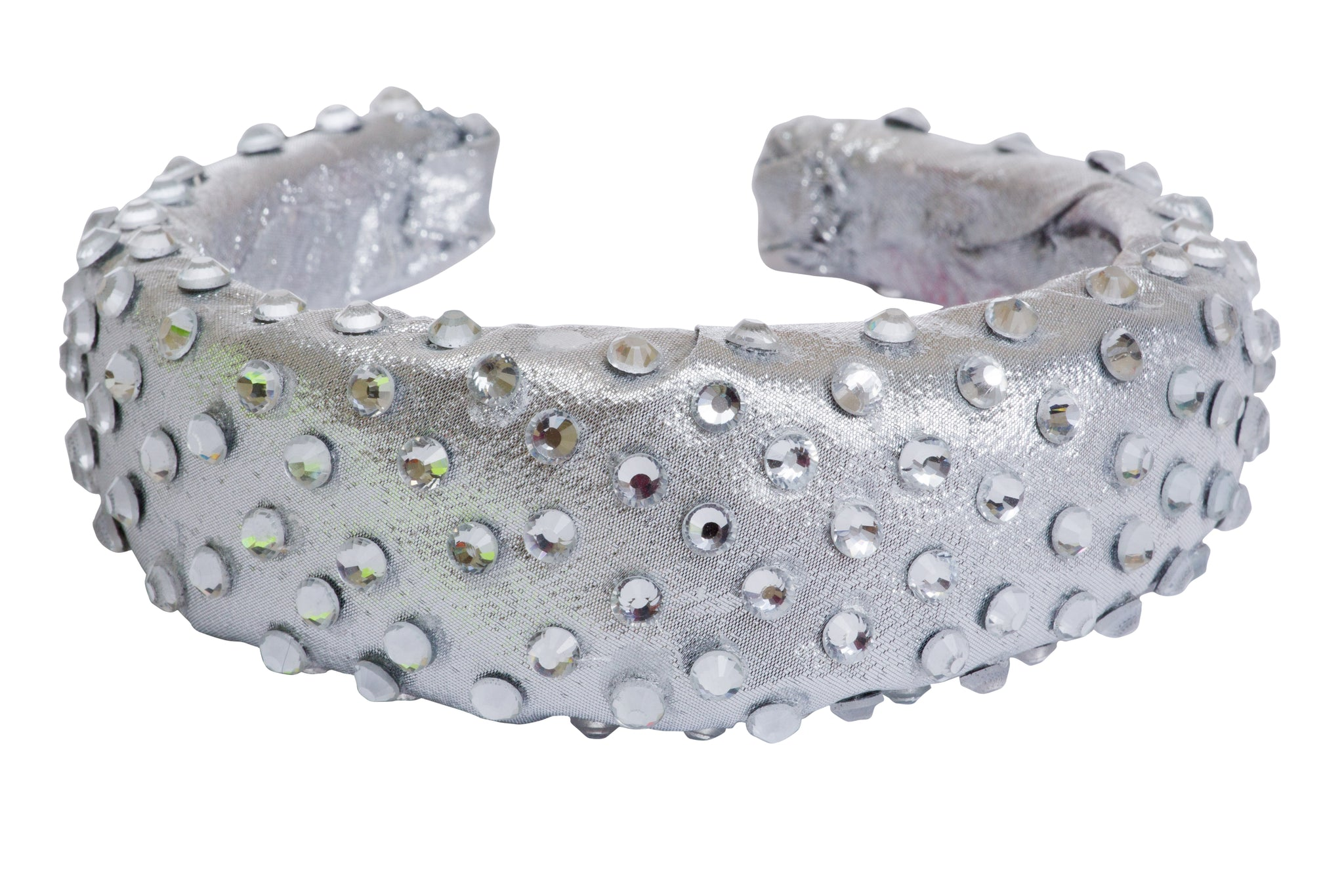 Silver padded diamante headband