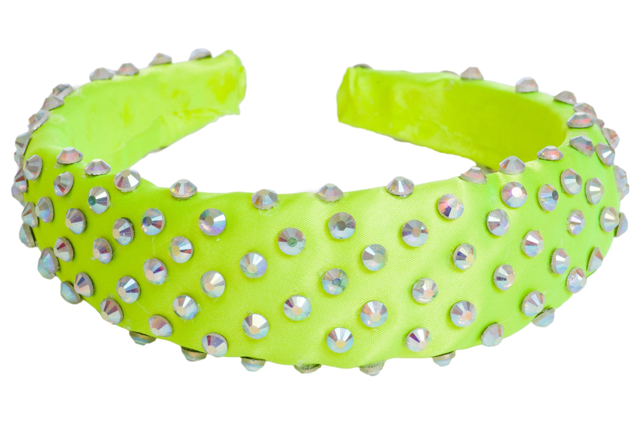 Green padded diamante headband