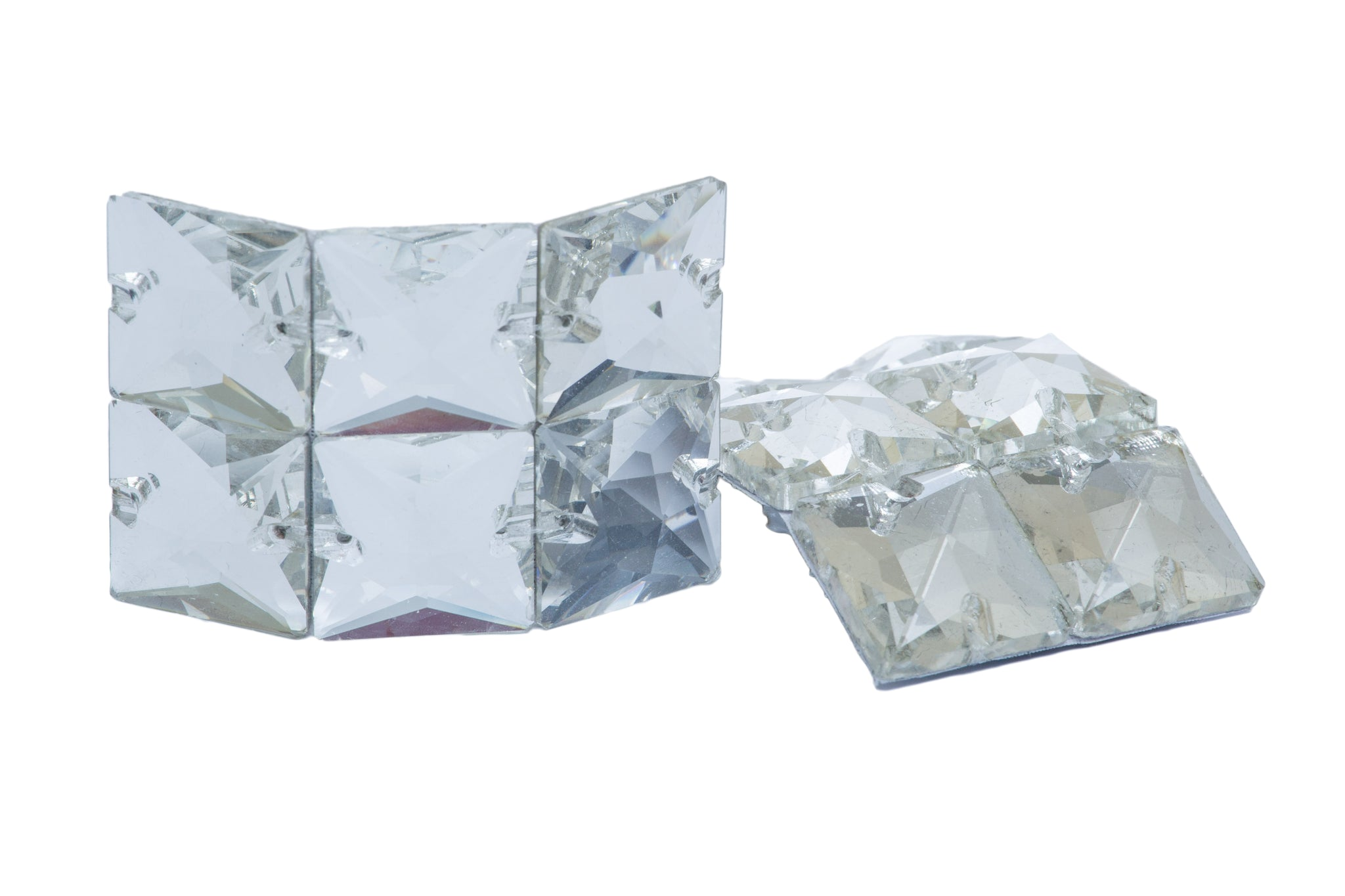 Medium square clear diamante buckles