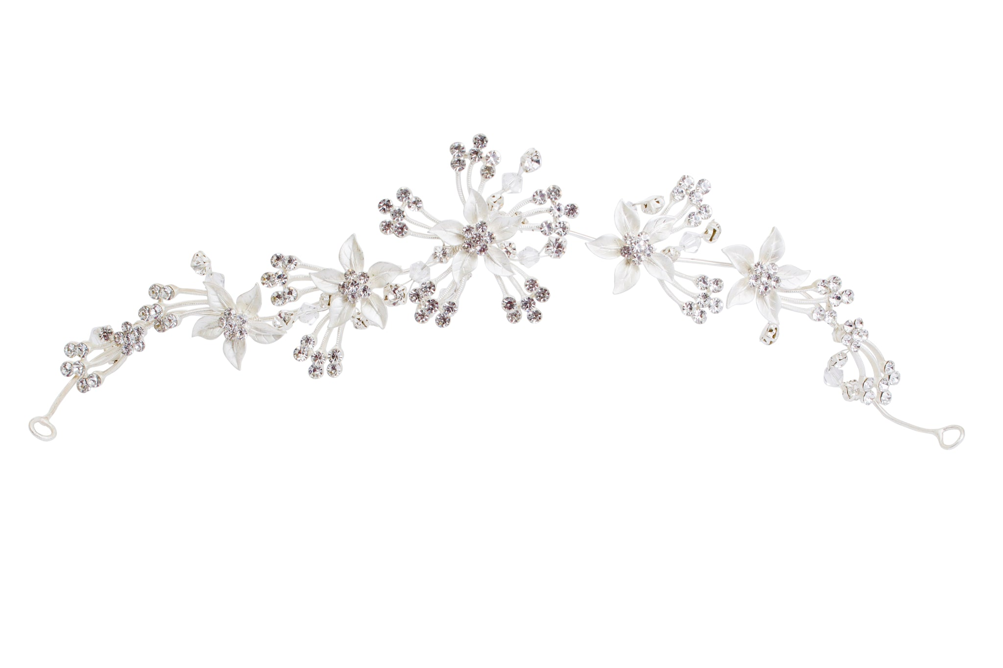Diamante headpiece on grips C