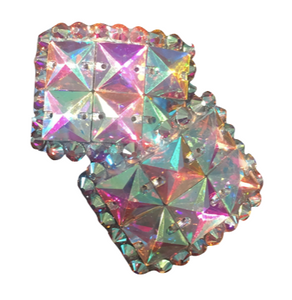 Small Crystal AB Buckles