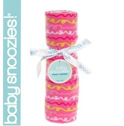 Snoozie Fleece Blanket - Pink Pattern