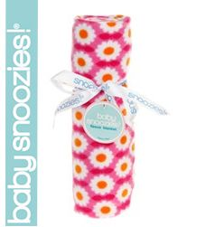 Snoozie Fleece Blanket - Pink Daisy