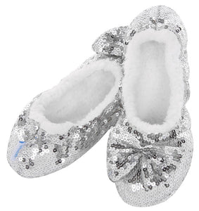 Ballerina Bling Snoozies - Adult Silver