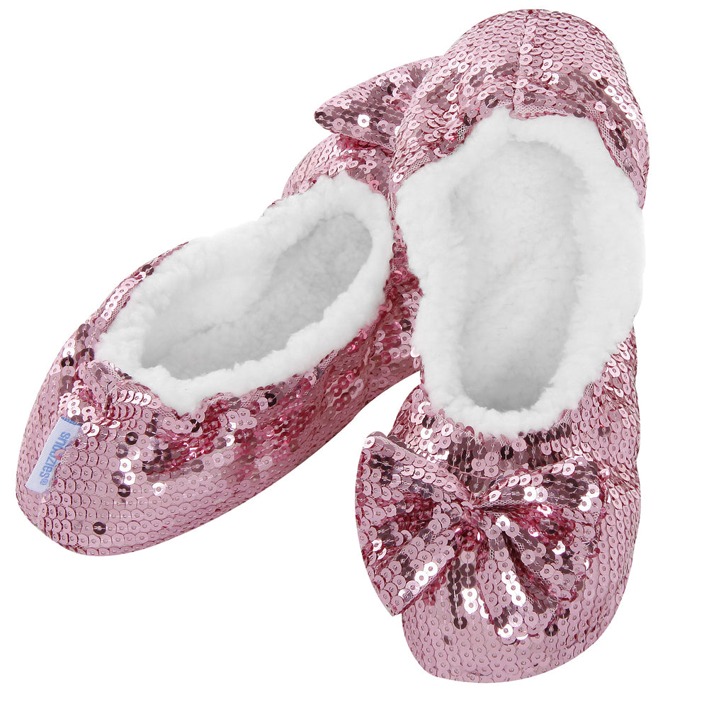 Ballerina Bling Snoozies - Child Pink