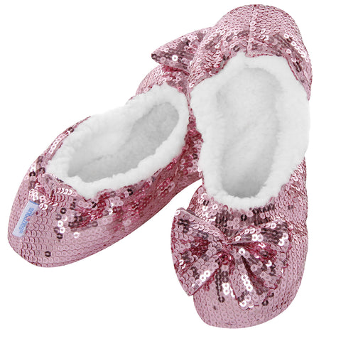 Ballerina Bling Snoozies - Adult Pink