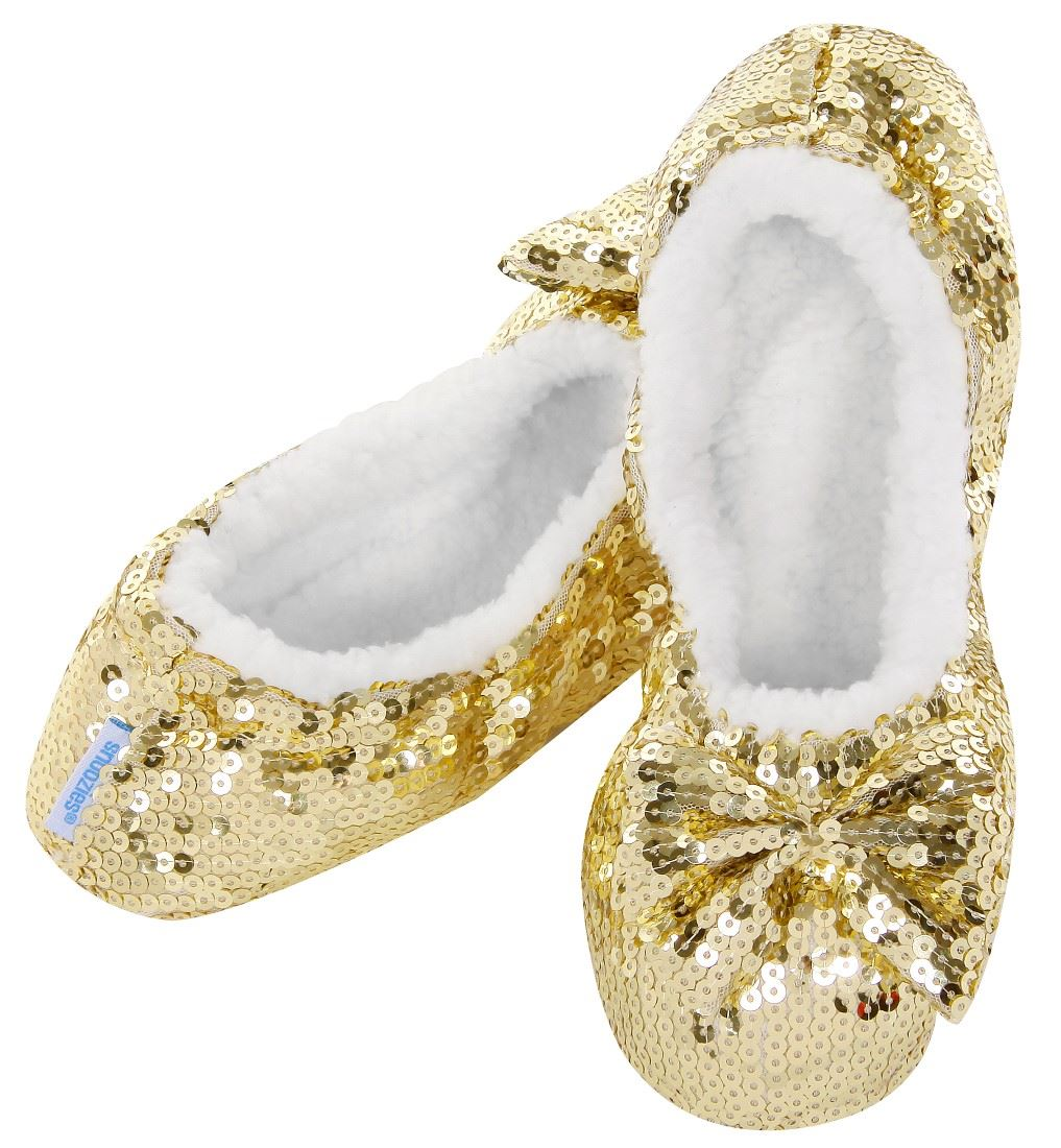 Ballerina Bling Snoozies - Child Gold