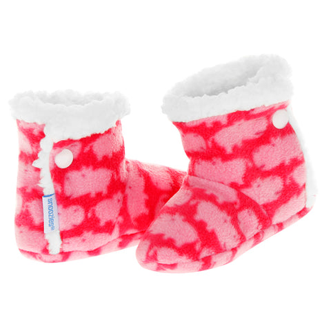 Baby Snoozies Booties - Pink Hippo