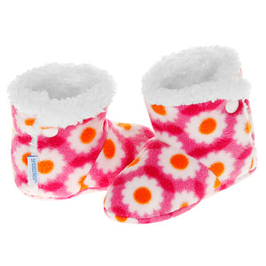 Baby Snoozies Booties - Pink Daisy