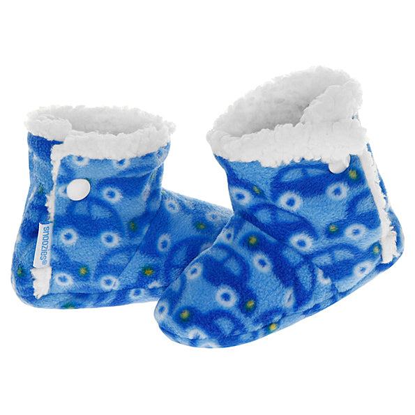Baby Snoozies Booties - Blue Car