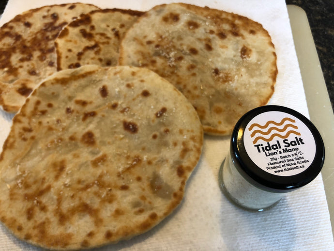 Lion's Mane Tidal Salt Flatbreads