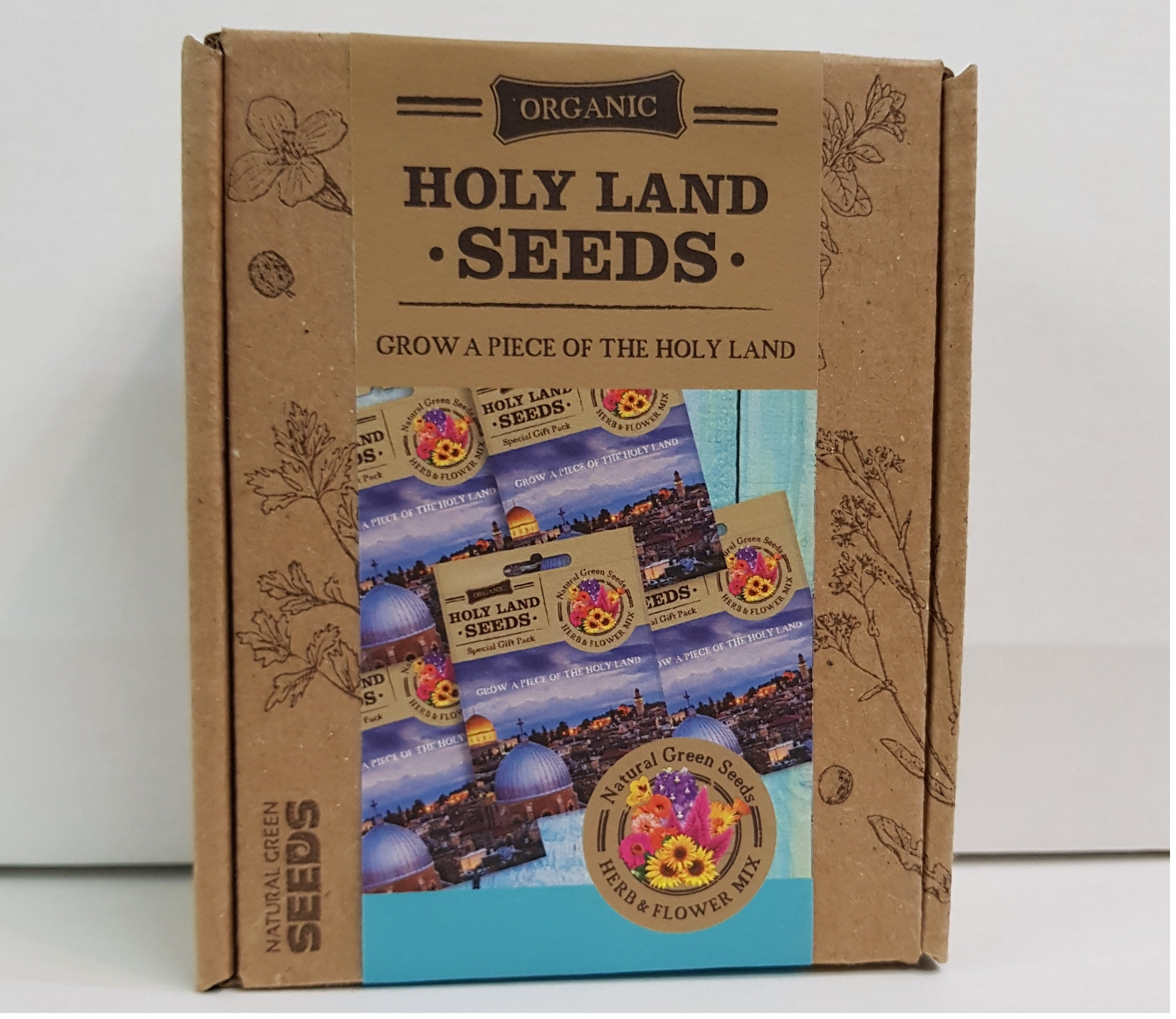 Holy Land Greeting Cards Gift Box With Holy Land Seeds Natural