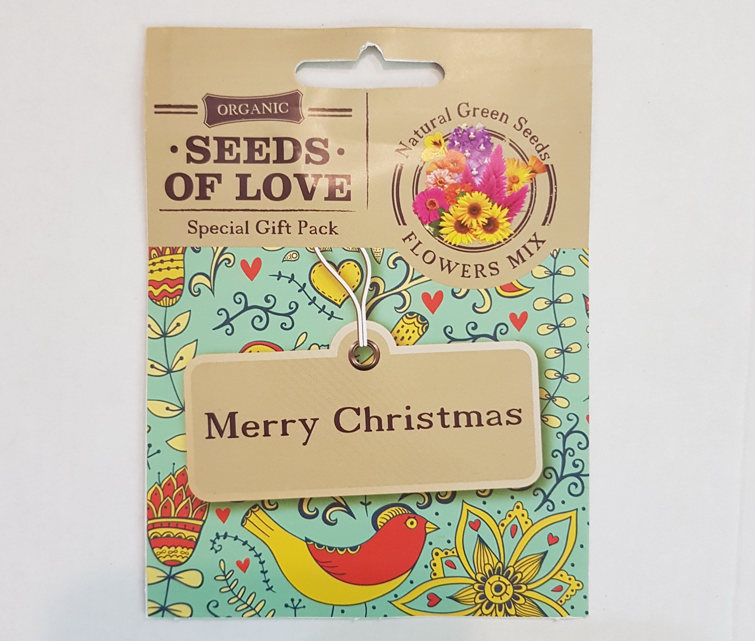 Christmas greeting cards natural green seeds christmas greeting cards set of 10 contain organic flower seeds m4hsunfo