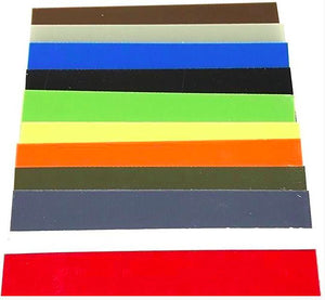 "G10 Knife Handle Liner Sheet- .02"" x 5.5"" x 12.25""- 11 Vibrant Colors--.02"" - Maker Material Supply"