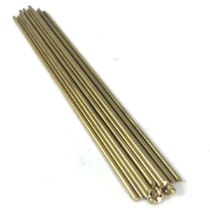 "3/32"" Pin Round Rod Knifemaking- Brass, Stainless Steel, Copper- 2 pcs x 6"" - Maker Material Supply"