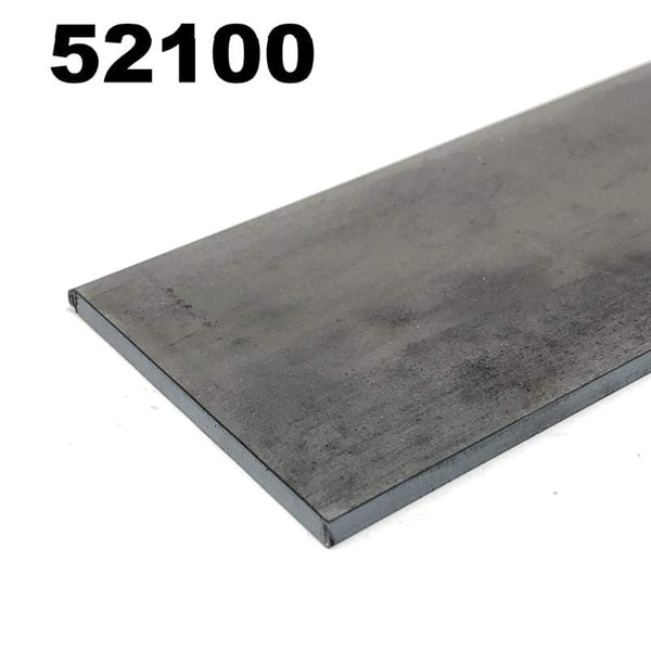 52100 High Carbon Blade Steel Flat Bar- Various Sizes - Maker Material Supply