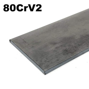 80CrV2 High Carbon Blade Steel Flat Bar- Various Sizes - Maker Material Supply