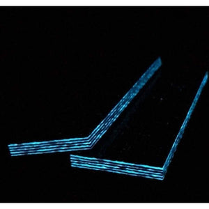 "BLUE Glow Carbon Fiber Knife Scales Jewelry Making .25"" x 1.5"" x 5"" CarbonWaves - Maker Material Supply"