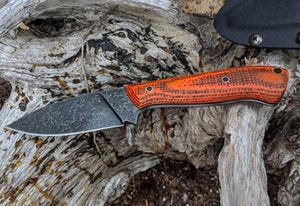 "Burlap Micarta by Fibermascus- BLAZE CAMO- 3/8"" - Knife Handle Material - Maker Material Supply"
