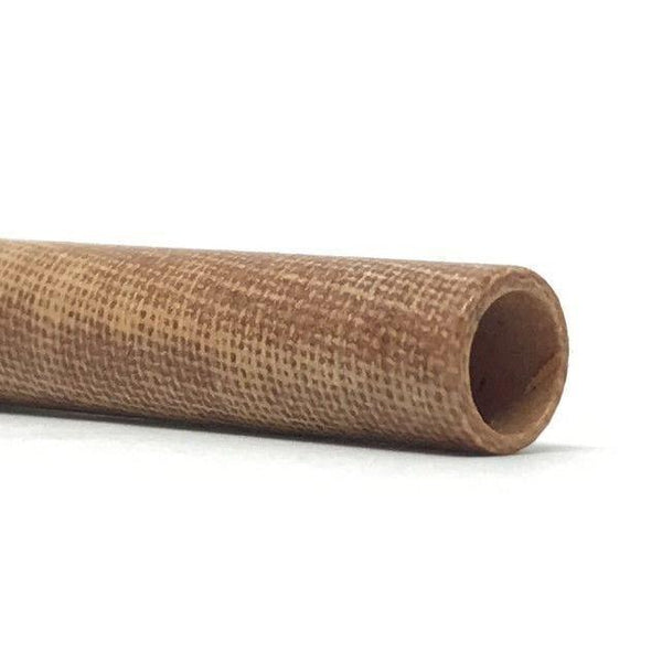 Canvas Micarta Phenolic Tube- Various Sizes- NATURAL BROWN - Maker Material Supply
