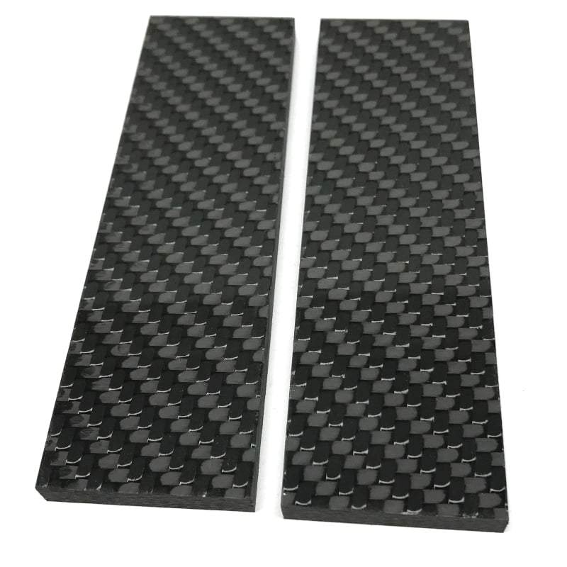 Carbon Fiber by CarbonWaves- Solid Twill 2x2 - Knife Scales - Various Sizes - Maker Material Supply