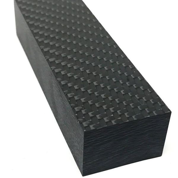 Carbon Fiber Knife Handle Block- 2x2 Twill Weave 1