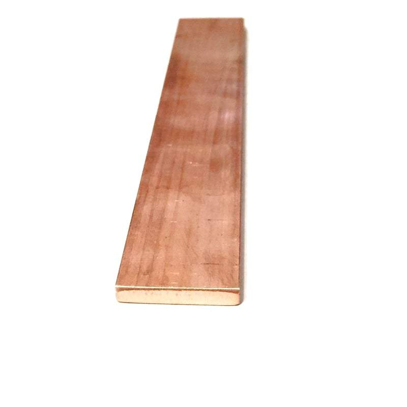 "Copper Flat Bar Stock 3/16"" x 1"" x 6""- Knife making, hobby, craft, C110- 1 Bar - Maker Material Supply"
