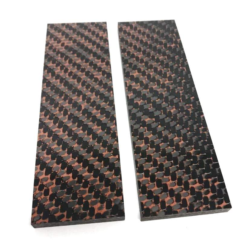 "Copper Infused Carbon Fiber- .25"" x 1.5"" x 5""- CarbonWaves - Maker Material Supply"