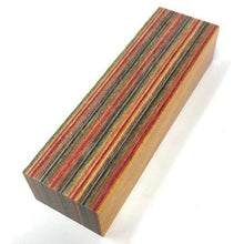 "Crosscut DymaLux- ""Skateboard"" Laminated Wood Knife Handle BLOCK- 1"" x 1.5"" x 5"" - Maker Material Supply"