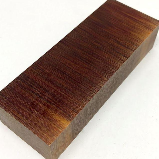 "Crosscut Vintage Linen Micarta- CHOCOLATE BROWN Color- Knife Handle BLOCK 1"" x 1.6"" x 4.5"" - Maker Material Supply"
