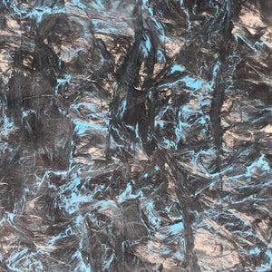"Dark Matter -BLUE- Marbled Carbon Fiber Slab- .2"" Thickness- 1 Piece- Fat Carbon - Maker Material Supply"