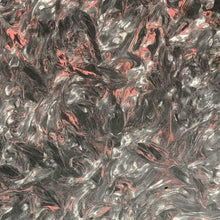 "Dark Matter -RED- Marbled Carbon Fiber Slab- .2"" Thickness- 1 Piece- Fat Carbon - Maker Material Supply"