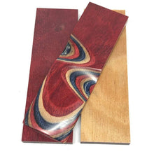 "Dymalux ""Americana"" Laminated Wood Knife Handle Scales- 3/8"" x 1.5"" x 5.25"" - Maker Material Supply"