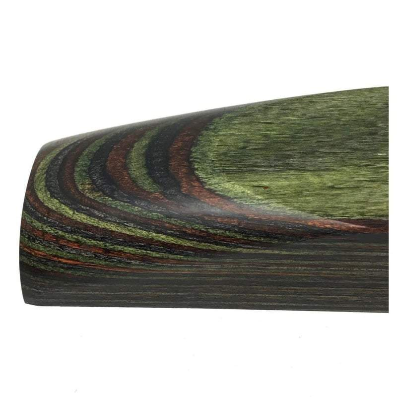 "DymaLux- GREEN MTN CAMO- Laminated Wood Knife Handle Block- 1"" x 1.5"" x 5"" - Maker Material Supply"