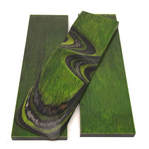 "Dymalux ""Green Hornet"" Laminated Wood Knife Handle Scales- 3/8"" x 1.5"" x 5.25"" - Maker Material Supply"