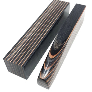 "DymaLux- Pen Blank- ""EMBER GLOW"" Laminated Wood - 1"" x 1"" x 5"" - Maker Material Supply"