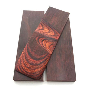 "Dymalux ""ROSEWOOD"" Laminated Wood Knife Handle Scales Slabs- 1/4"" x 1.5"" x 5"" - Maker Material Supply"