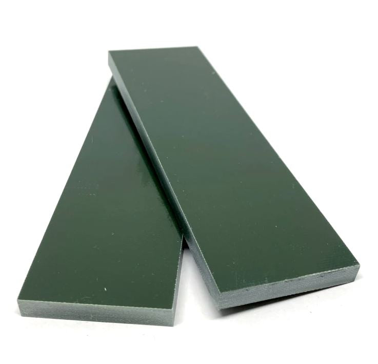 "G10 Knife Handle Scales 1/4 (.25)"" x 1.5"" x 5""- FOREST GREEN - Maker Material Supply"