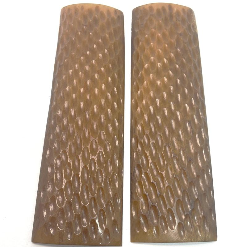 "Jigged Bone Scales- Various Colors- 1/4"" x 1.5"" x 5"" - Maker Material Supply"