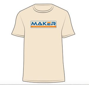 "MMS ""MAKER"" T-Shirt- Natural Color- Soft Fitted - Maker Material Supply"