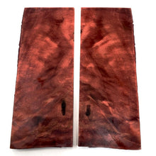 Poplar Burl- Stabilized Wood- Dyed RED- Various Sizes - Maker Material Supply