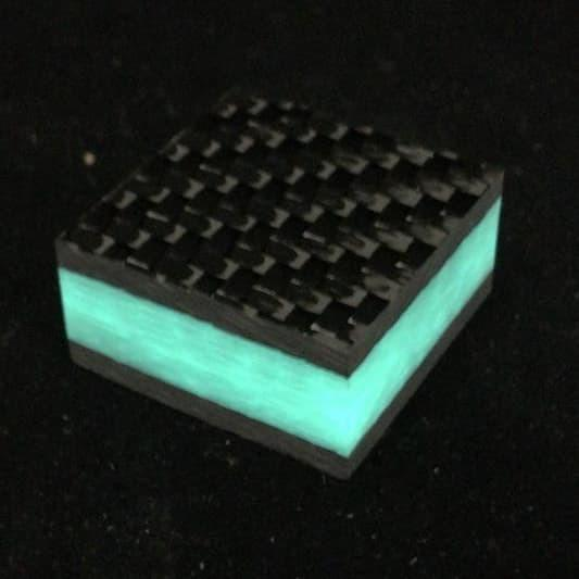 Ring Blank- Aqua Glow Core Carbon Fiber 5/8