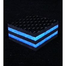 "Ring Blank- Double Blue Glow Core Carbon Fiber 1/2"" x 1.25"" x 1.25"" CarbonWaves - Maker Material Supply"