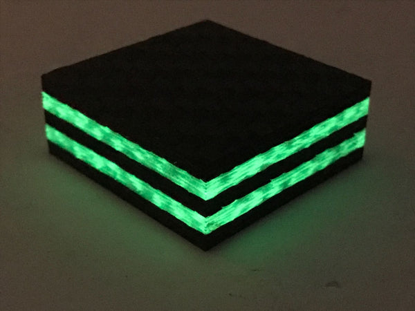 Ring Blank- DOUBLE GREEN GLOW Core Carbon Fiber- 1/2