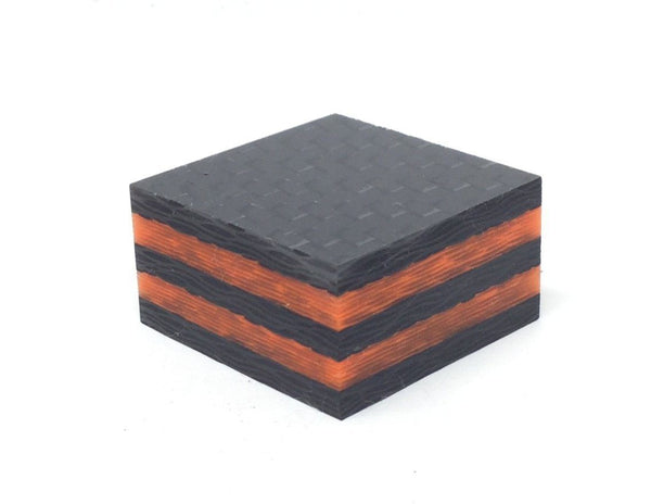 Ring Blank- Double ORANGE Glow Core Carbon Fiber 5/8