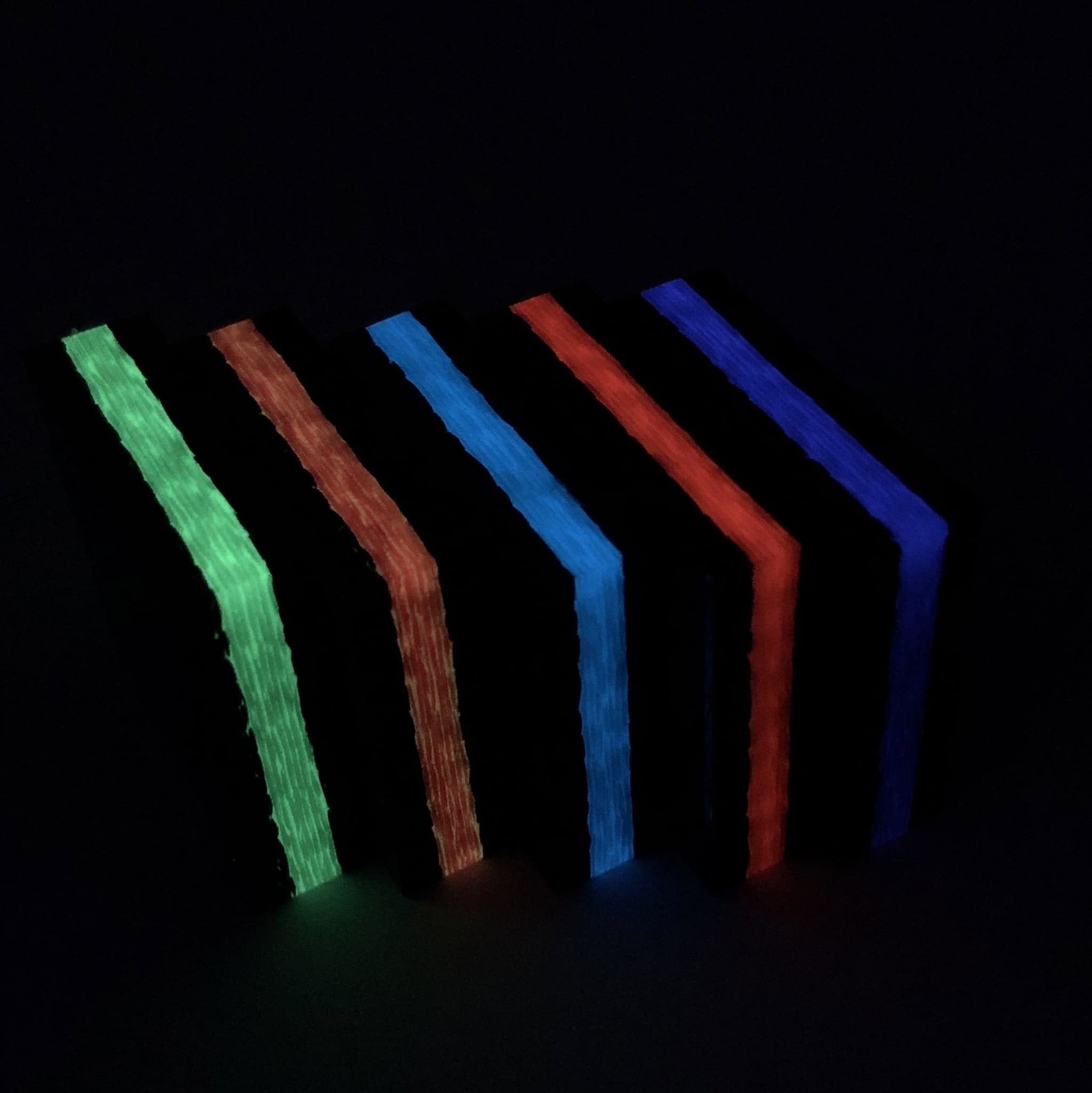 """Ring Blank AQUA Color Solid Glow Waves 1//4/"""" x 1.35/"""" x 1.35/"""" CarbonWaves"""